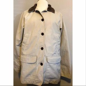 LL Bean barn coat with corduroy collar